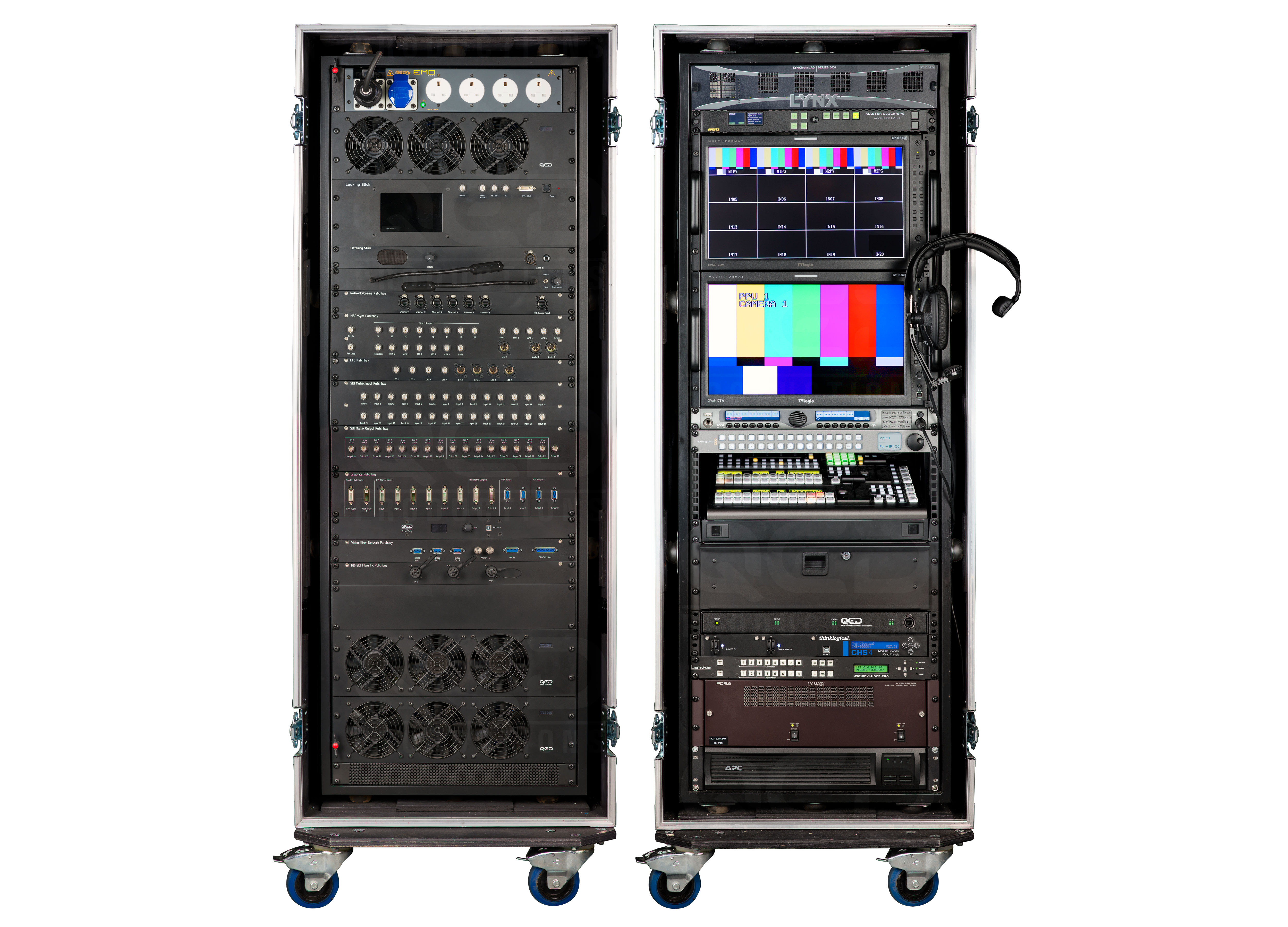 Test Equipment Racks : Qed productions equipment production rack